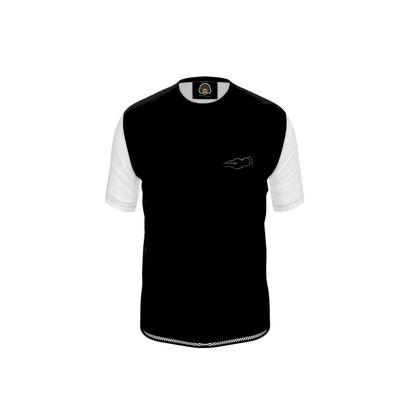 Mens T-Shirt - Fully Enhanced Reclining Nude Woman (White)