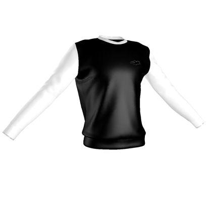 Sweatshirt - Fully Enhanced Reclining Nude Woman (White)