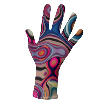 Lycra Gloves fashion Circles 2