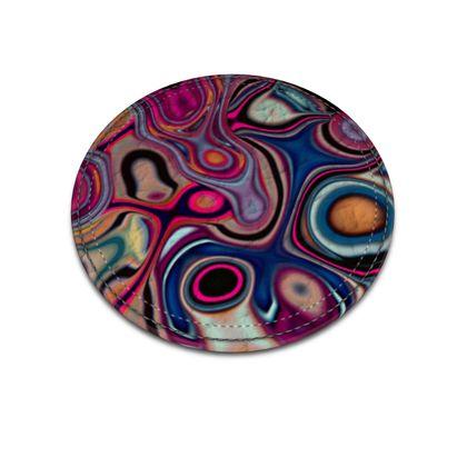 Leather Coasters Fashion Circle 2