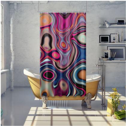Shower Curtain Fashion Circle 2