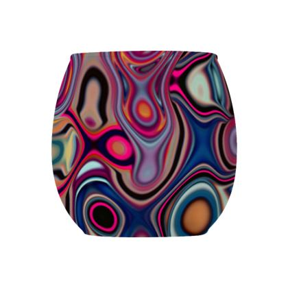 Glass Tealight Holder Fashion Circle 2