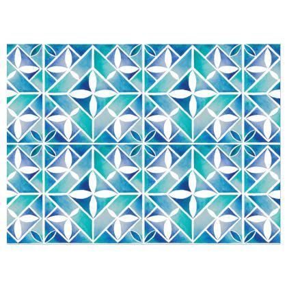 Blue tile crossbody bag