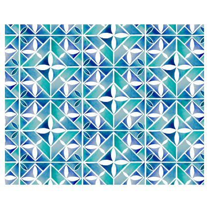 Blue tile kimono