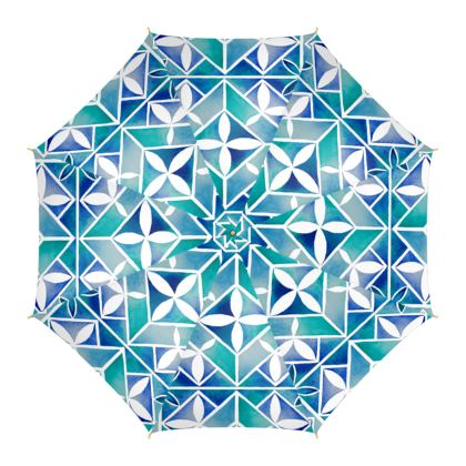 Blue tile Umbrella