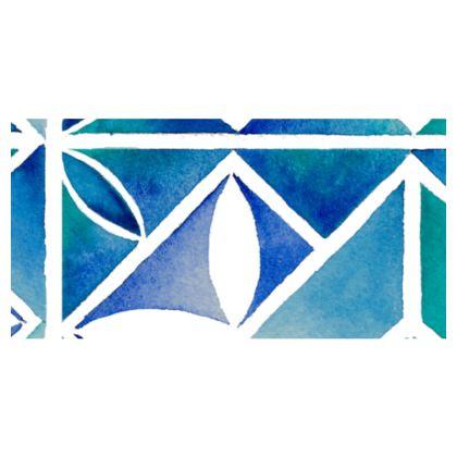 Blue tile Travel wallet