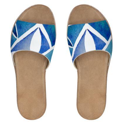 Blue tile sliders