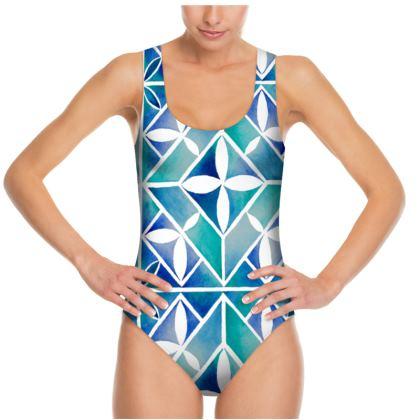 Blue tile Swimsuit