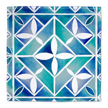 Blue Tile Napkins