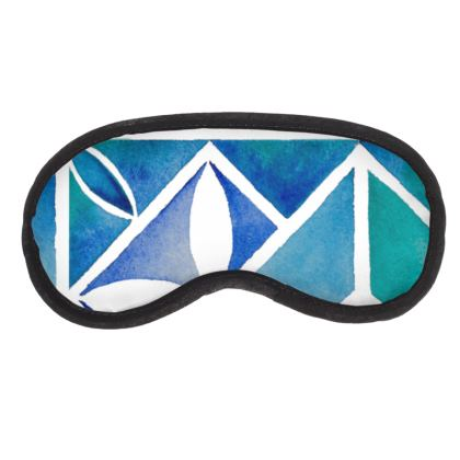 Blue tile eye mask