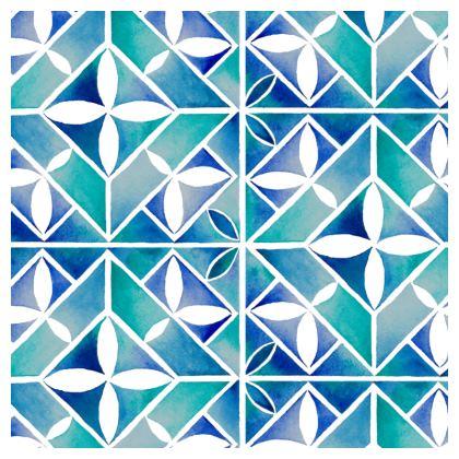 Blue Tile Tablecloth