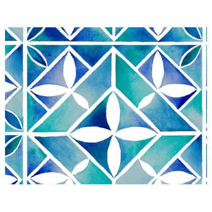 Blue tile handbag