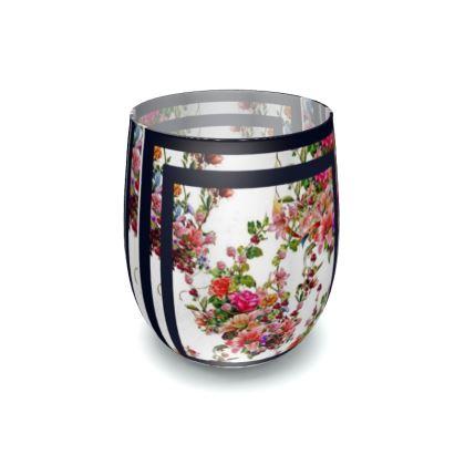 bicchiere linea il giardino fiorito