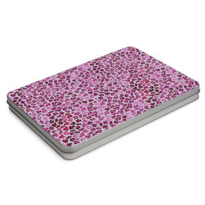 Leopard Skin in Magenta Collection Pencil Case Box