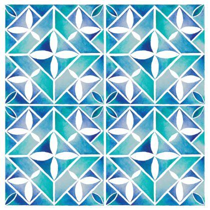 Blue tile Deckchair