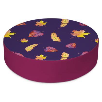 Purple Autumn Round floor cushion