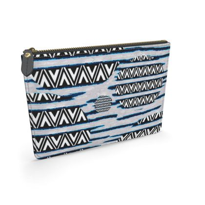 River Nile - Triangles - Leather Pouch