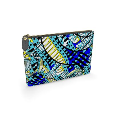 Wings of Death - Royal Blue - Leather Pouch