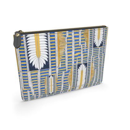 Ma'at Wings with stripes - Leather Pouch
