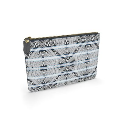 Ma'at Wings Black and White - Leather Pouch