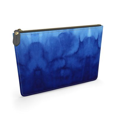 Blue Ombre - Leather Pouch
