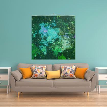 Wall Hanging - Jade Nebula Galaxy Abstract