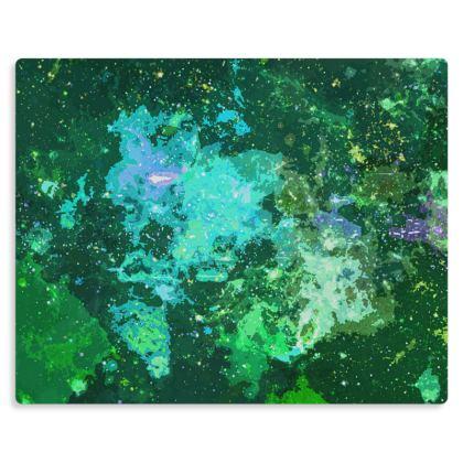 Metal Prints - Jade Nebula Galaxy Abstract
