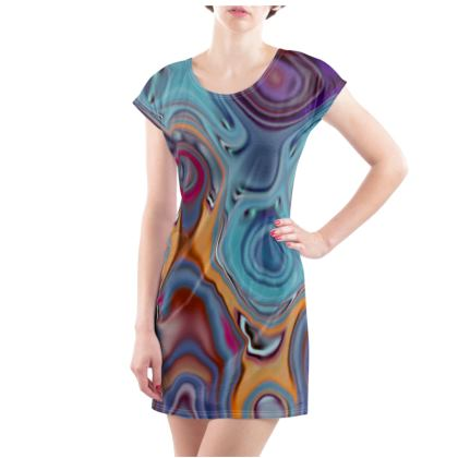 Ladies Tunic T Shirt Fashion Circles 3