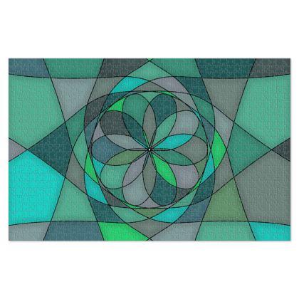 Jigsaw Puzzle - Jade spiral