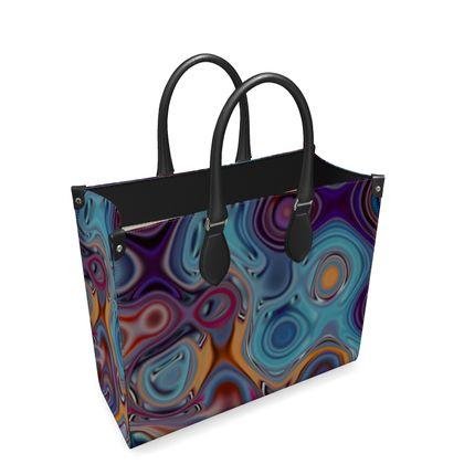 Leather Shopper Bag Fashion Circle 3