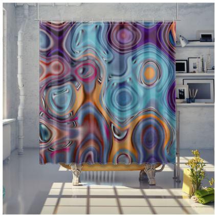 Shower Curtain Fashion Circle 3