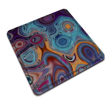 Leather Coasters Fashion Circle 3