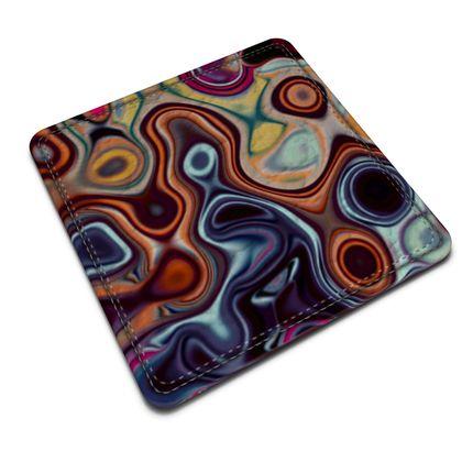 Leather Coasters Fashion Circle 4