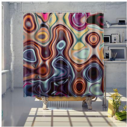 Shower Curtain Fashion Circle 4