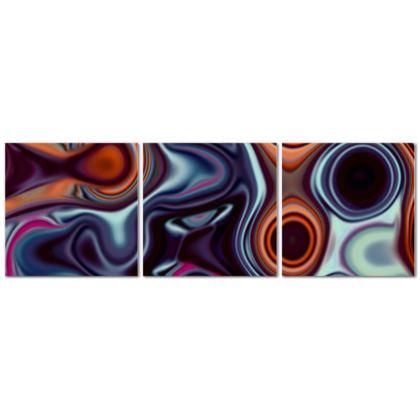 Triptych Canvas Fashion Circles 4