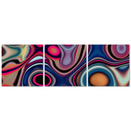 Triptych Canvas Fashion Circles 1