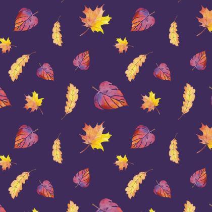 Purple Autumn travel wallet