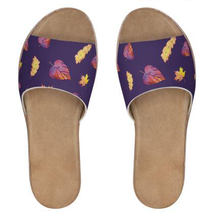 Purple autumn sliders