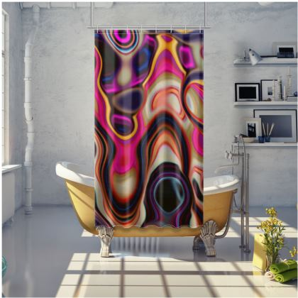 Shower Curtain Fashion Circle 5