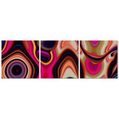 Triptych Canvas Fashion Circles 5