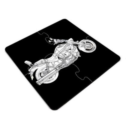 Jigsaw Coasters - Cruiser Sketch