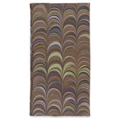 Neck Tube Scarf - Around Ex Libris Brown Remix (1800 -1950)