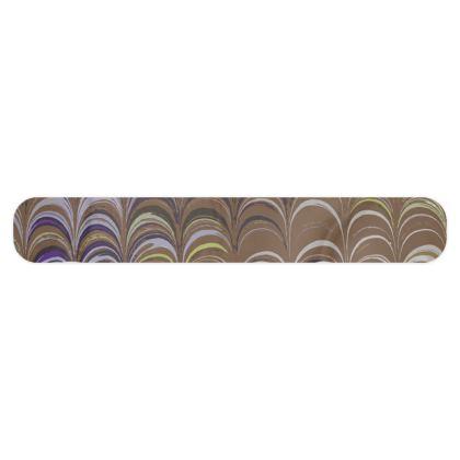 Fleece Scarf - Around Ex Libris Brown Remix (1800 -1950)
