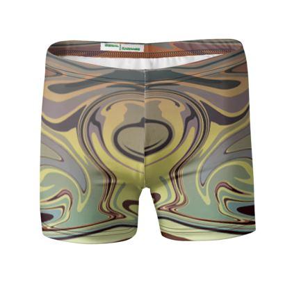 Swimming Trunks - Marble Rainbow 1