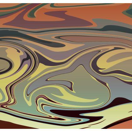 Mens Swimming Shorts - Marble Rainbow 1