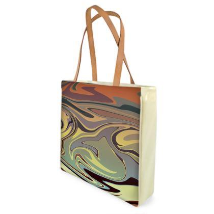 Beach Bag - Marble Rainbow 1