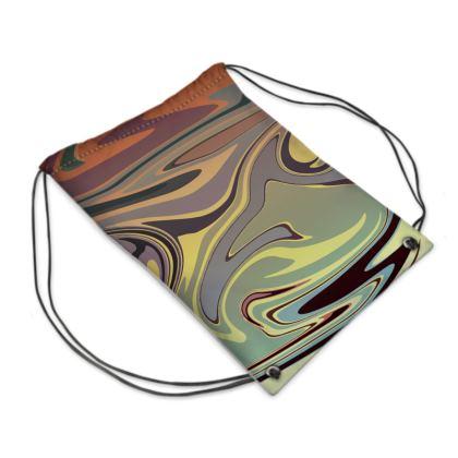 Swim Bag - Marble Rainbow 1