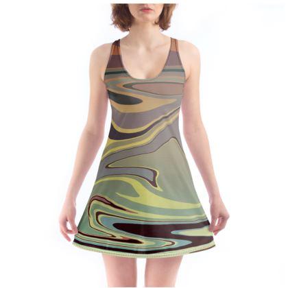 Beach Dress - Marble Rainbow 1