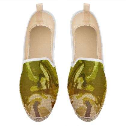 Loafer Espadrilles - Honeycomb Marble Abstract 3