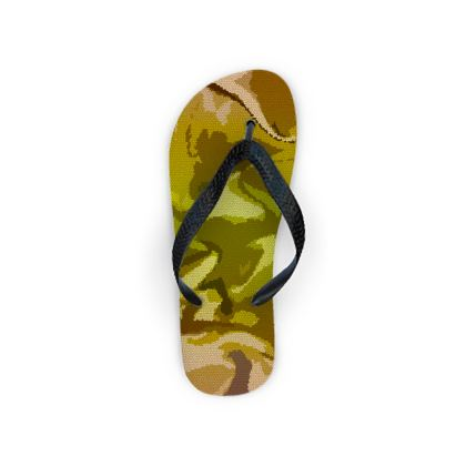 Flip Flops - Honeycomb Marble Abstract 3